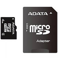 Карта памяти 4 Gb microSD ADATA Class4 (AUSDH4GCL4-RA1)
