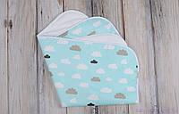 Многоразовые непромокашки для новорожденных (размер 60*80 см), Облака, фото 1