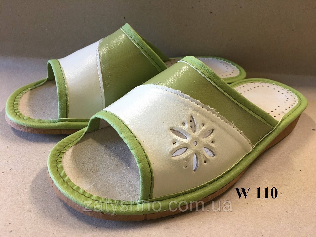 Тапочки женские зеленые