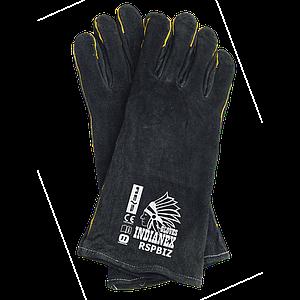 Перчатки для сварочных работ RSPBIZINDIANEX B11 из яловой кожи ,бело-желтого цвета. REIS