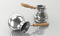 Турка ручной работы 450 мл ( покрытие серебро)