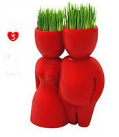 Травянчик керамический красный двойной - пара стоит
