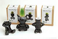 Травянчик керамический черный одинарный, фото 1