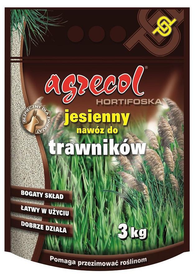 Добриво Agrecol осіннє для газонів Hortifoska 3 кг
