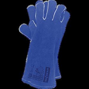 Перчатки для сварочных работ RSPBLUE-INDIANEX N 11 из яловой кожи , бело-желтого цвета. REIS