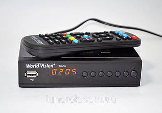Эфирный DVB-T2 приемник World Vision T62A DVB-T2 Dolby Digital AC3 + обучаемый пульт