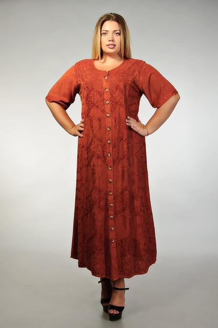 Индийские платья с вышивкой
