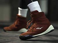 Боксерки Everlast Elite High Top красные. Обувь для бокса Еверласт, фото 1