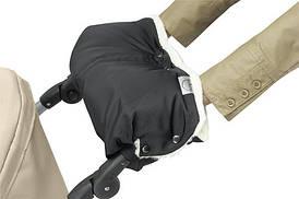 Теплая зимняя муфта (перчатки) для рук креплением на коляску (универсальная)