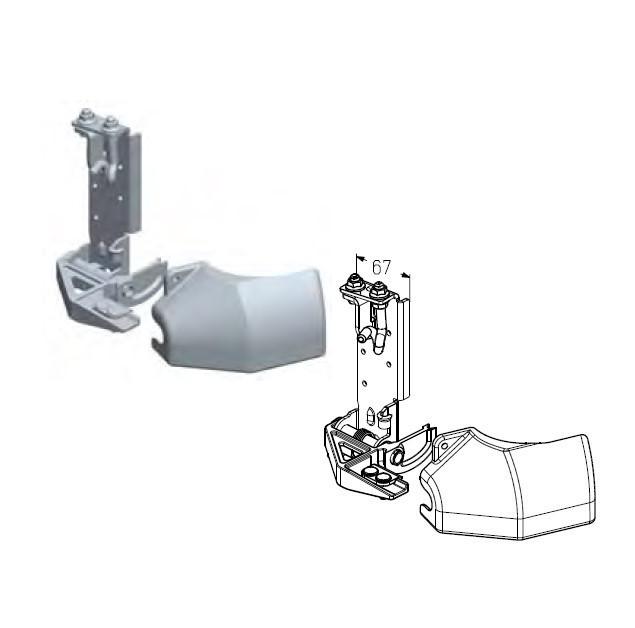 Кронштейн роликовый нижний RBI-45.100 R правый