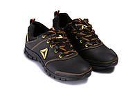 Мужские кожаные кроссовки Reebok Classic New Age yellow , фото 1