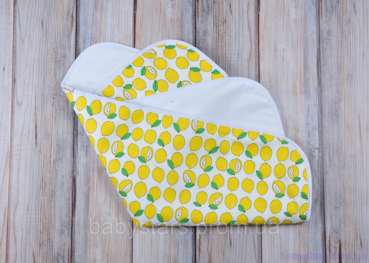 Непромокашки детские (размер 60*80 см), лимончики