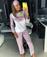 Женская пижама Doratti, костюм домашний с повязкой на глаза для сна M01