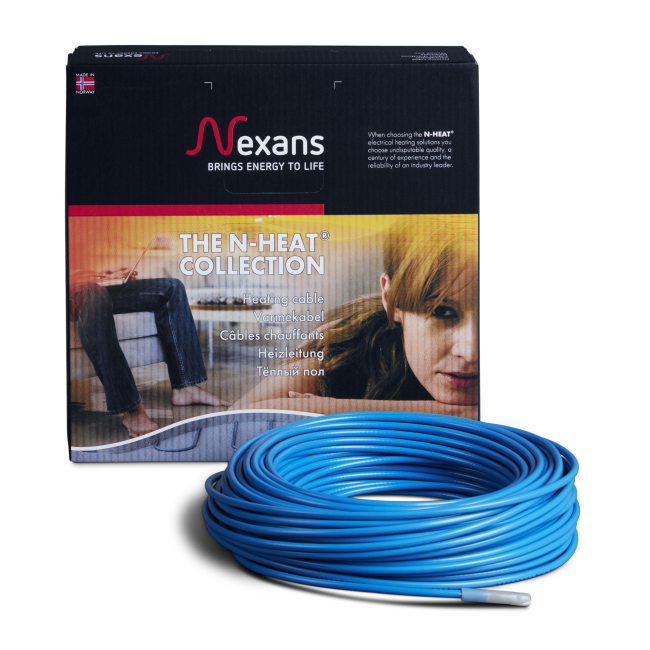 Кабель нагревательный 4,1 - 5,1 кв.м., 700Вт, Nexans TXLP/2R 17Вт/м