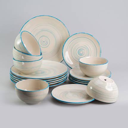 """Набор столовой посуды """"Фиалка"""" 18 предметов Herisson (EZ-2008), фото 2"""