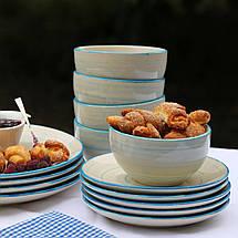 """Набор столовой посуды """"Фиалка"""" 18 предметов Herisson (EZ-2008), фото 3"""