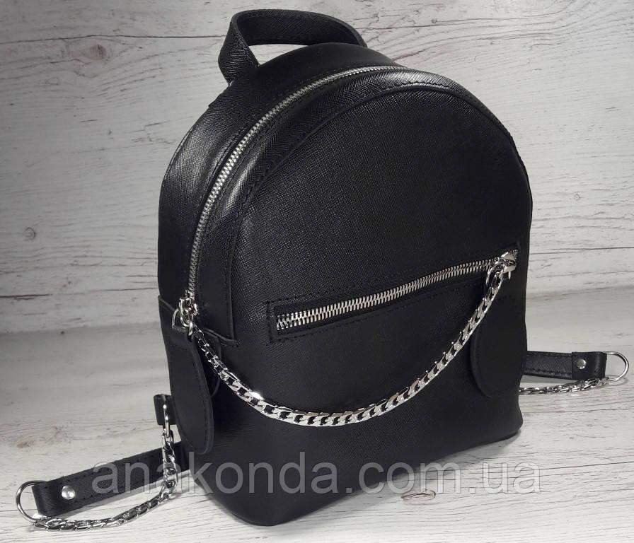 111-3 Натуральная кожа Городской рюкзак Кожаный рюкзак Из натуральной кожи Рюкзак женский черный рюкзак черный