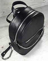 111-3 Натуральная кожа Городской рюкзак Кожаный рюкзак Из натуральной кожи Рюкзак женский черный рюкзак черный, фото 2