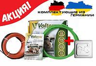 Теплый пол электрический Volterm HR182800 20 м²(160м пог) Двужильный Коаксиальный нагревательный кабель , фото 1