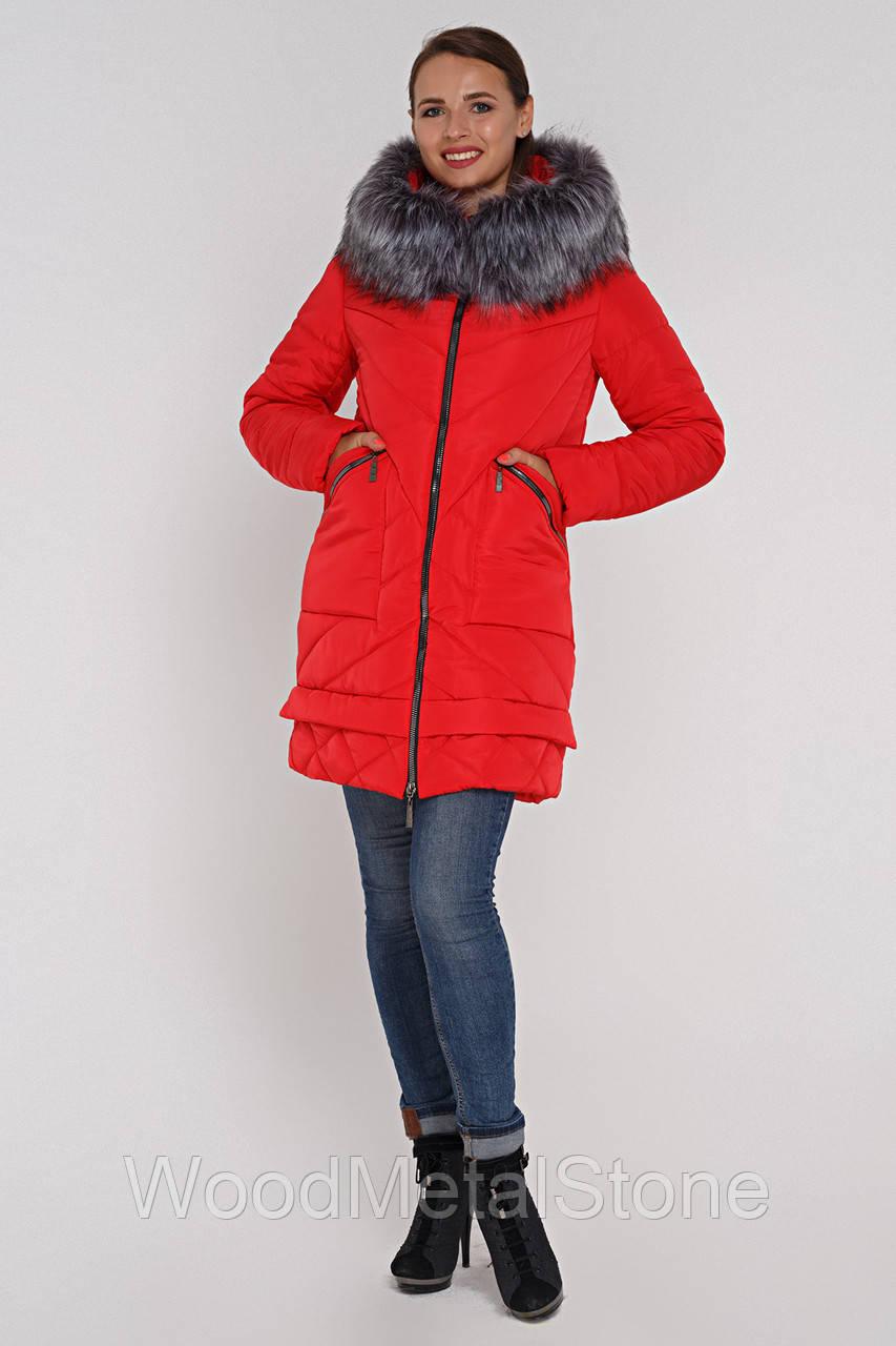 b7c17854ef2 Модная зимняя женская куртка с мехом (46-56)