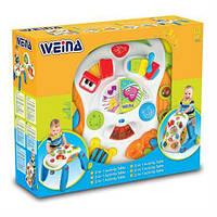 Музыкальный игровой столик ходунки weina (2137) для малышей