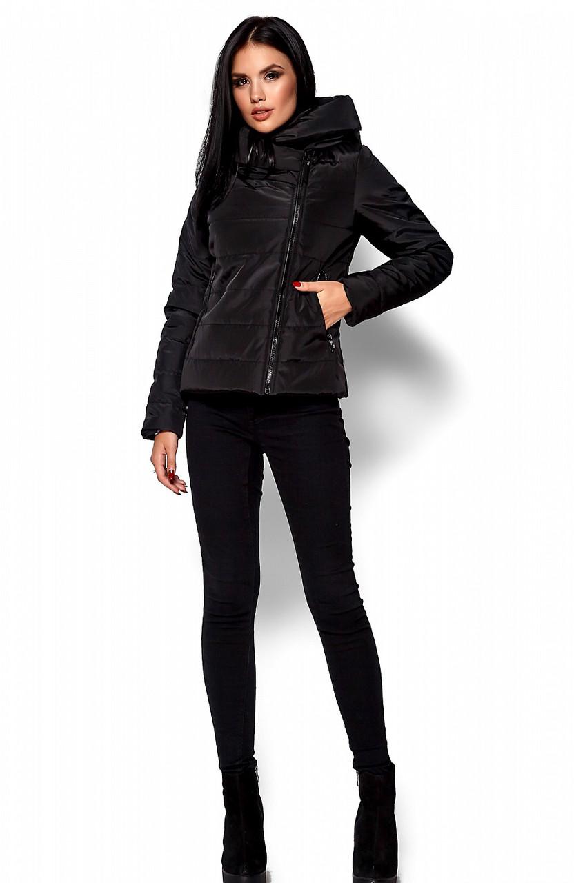 Женская демисезонная черная куртка Анри, р.46-48