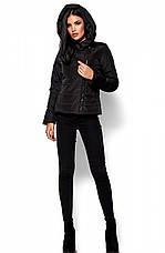 Женская демисезонная черная куртка Анри, р.46-48, фото 3