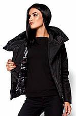 Женская демисезонная черная куртка Анри, р.46-48, фото 2