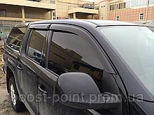 Дефлектори вікон (вітровики) Volkswagen amarok (фольксваген амарок 2010+)