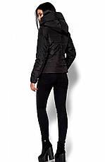 Женская демисезонная черная куртка Анри, р.42-48, фото 3