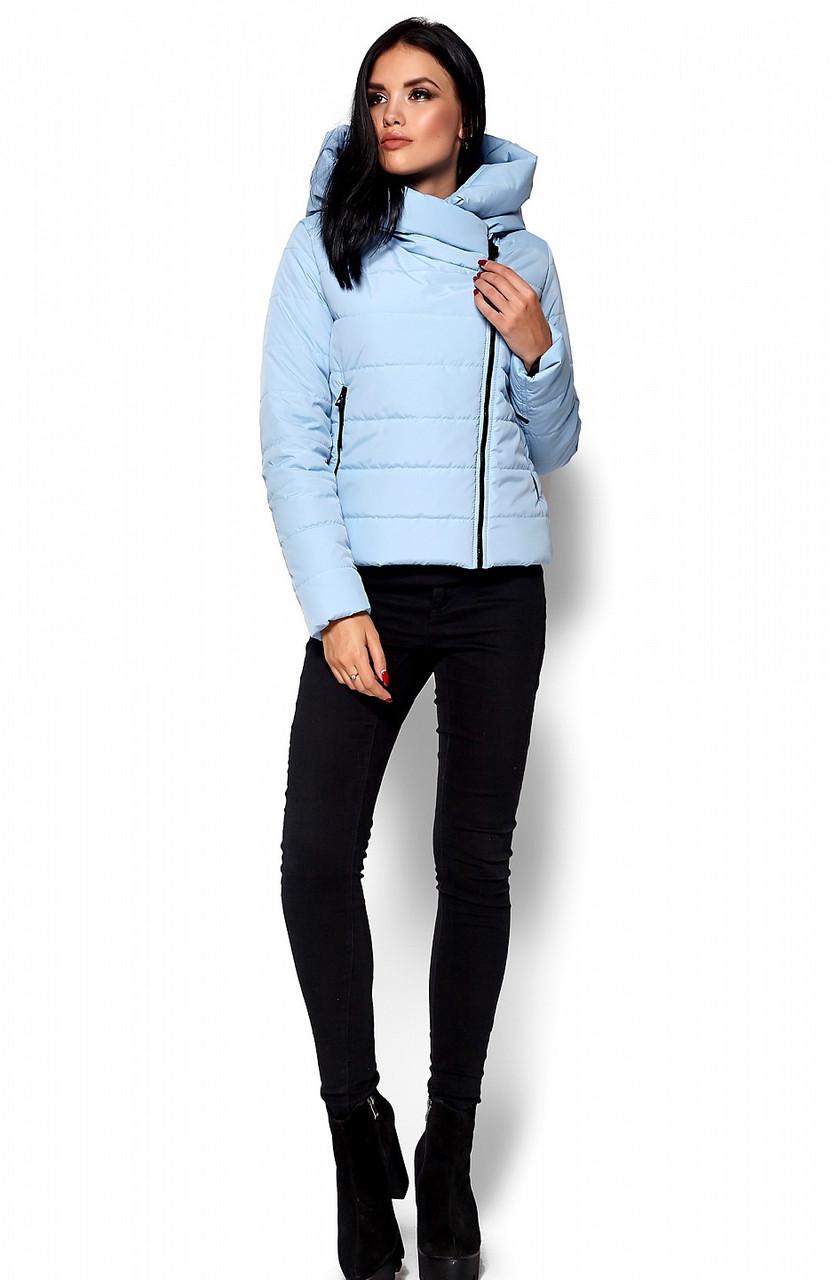 Женская демисезонная голубая куртка Анри, р.44-48