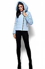 Женская демисезонная голубая куртка Анри, р.44-48, фото 2