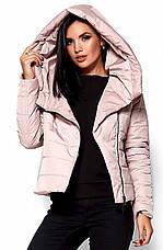 Женская демисезонная розовая куртка Анри, р.44-46, фото 2