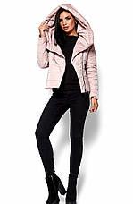 Женская демисезонная розовая куртка Анри, р.44-46, фото 3