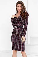 (S / 42-44) Класичне трикотажне плаття в клітку Desember