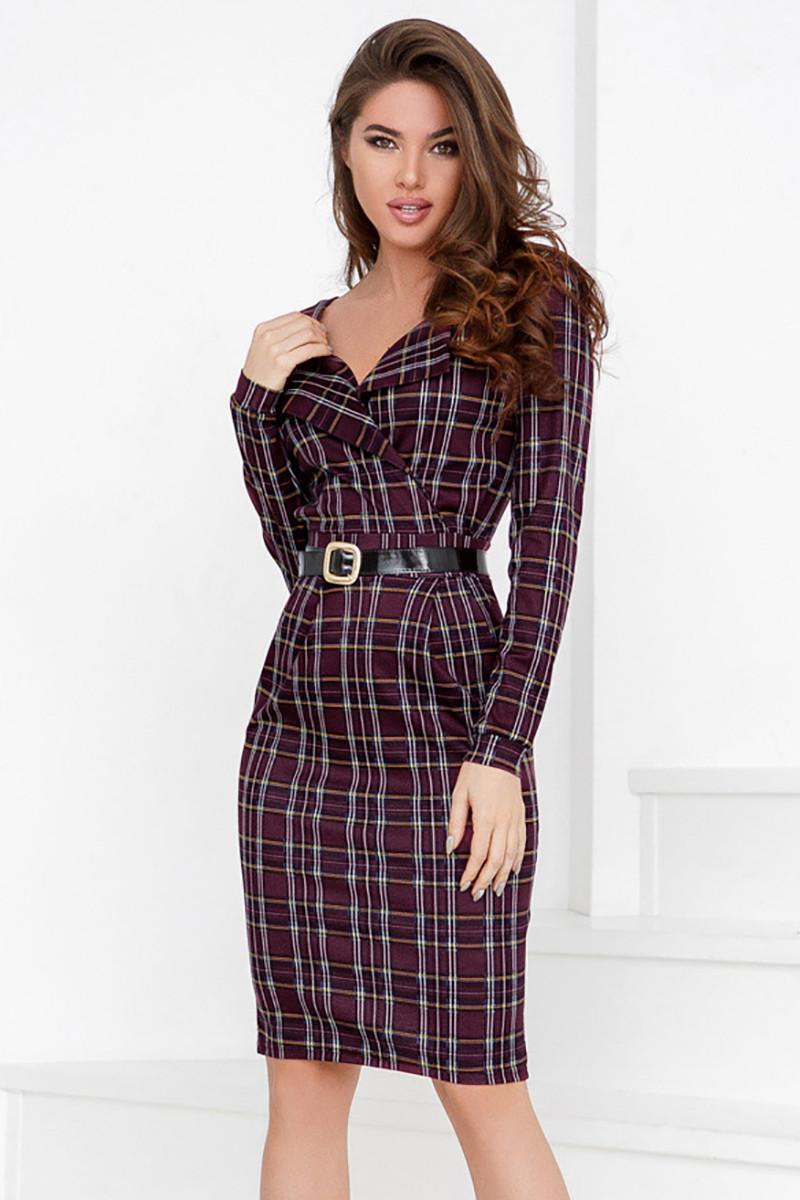aa9d08e774befb (S, M) Класичне трикотажне плаття в клітку Desember -