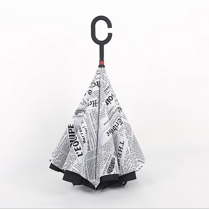 Зонт наоборот Антизонт Умный зонт Umbrella, фото 2