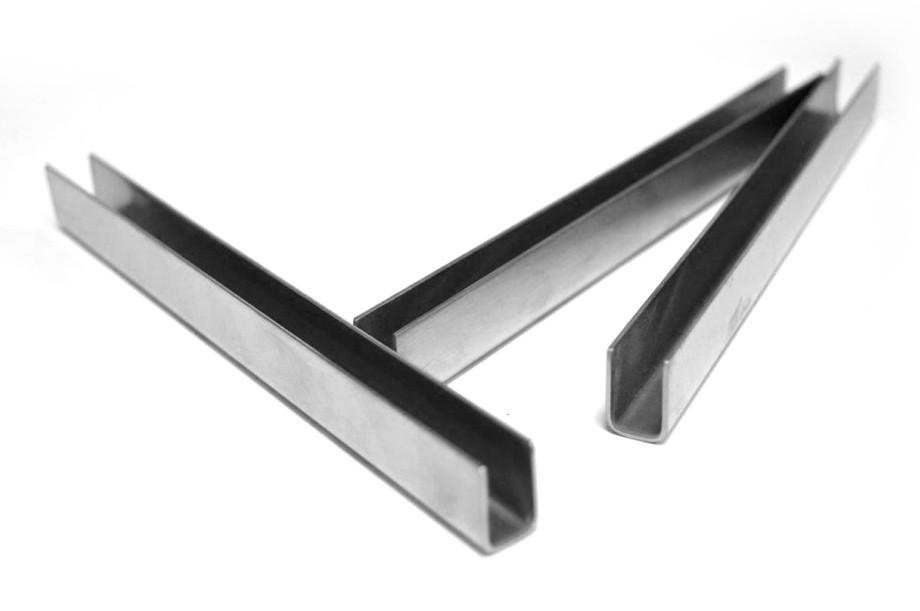ODF-04-08-01-L2500 Профиль из нержавейки под стекло 10 мм (сатин)