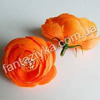 Цветок ранункулюса крупный 40мм, оранжевый