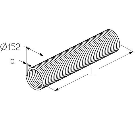 Торсіонна Пружина для воріт, TSA_152 мм Alutech 11.5, L(ліва)