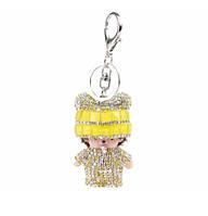 """Брелок-кукла """"Monchhichi"""" со стразами (золотая), 1-123500"""