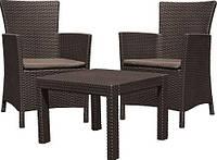 Комплект садовой мебели Rosario balcony Set коричневый (Time Eco TM)