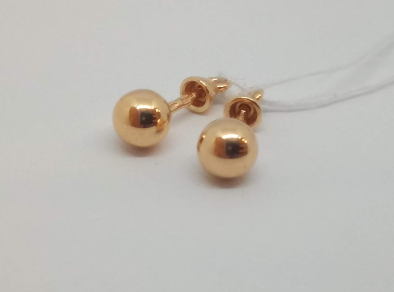 Золотые серьги-пуссеты. Артикул 580055