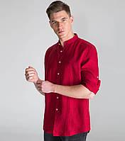 Рубашка свободного покроя лен, офис, осень-весна, цвет на выбор, фото 1