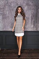 Женское платье клетка-воротник мод.7039, фото 1