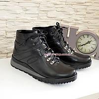 Мужские ботинки на шнуровке, осень/зима, натуральная кожа, фото 1
