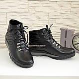 Мужские ботинки на шнуровке, осень/зима, натуральная кожа, фото 4