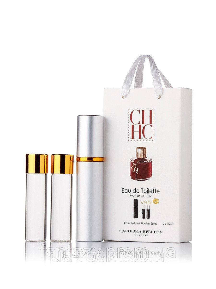 Мини-парфюм женский Carolina Herrera CH, 3х15 мл