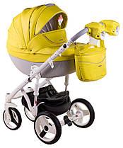 Дитяча універсальна коляска 2 в 1 Adamex Monte Deluxe Carbon 39SC