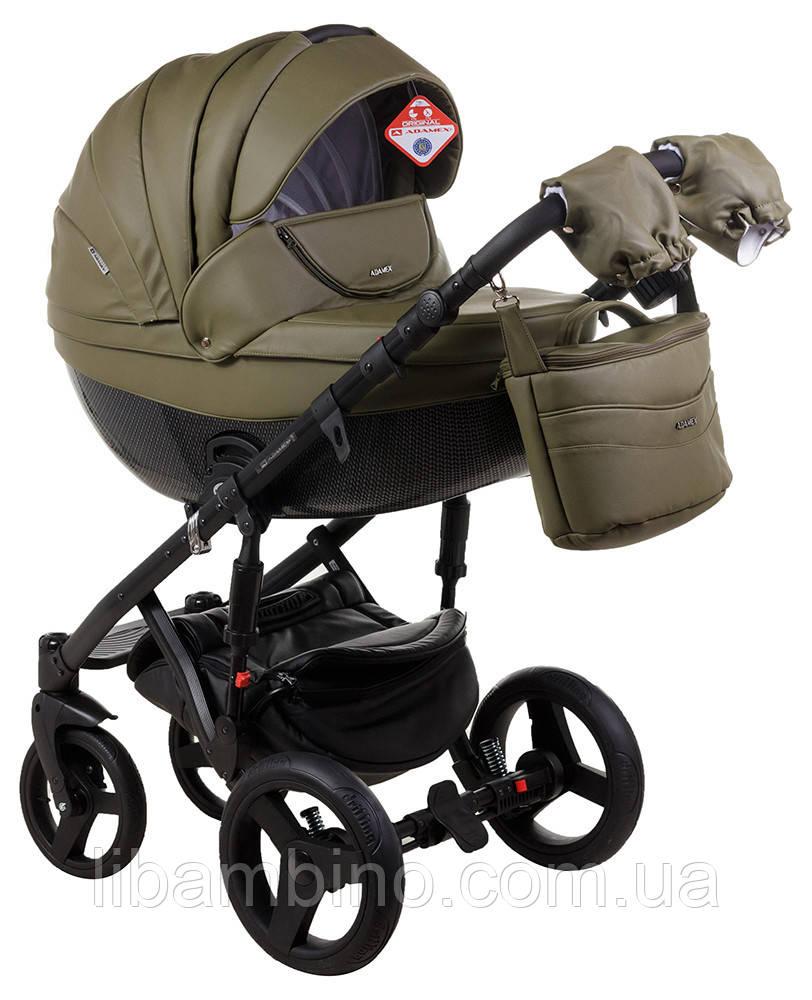 Дитяча універсальна коляска 2 в 1 Adamex Monte Deluxe Carbon 58S-CZ